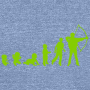 evolution archery T-Shirts - Unisex Tri-Blend T-Shirt by American Apparel
