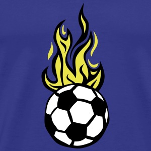 soccer ball flame fire flame cartoon T-Shirts - Men's Premium T-Shirt