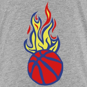 flame basketball balloon cartoon drawing Kids' Shirts - Kids' Premium T-Shirt