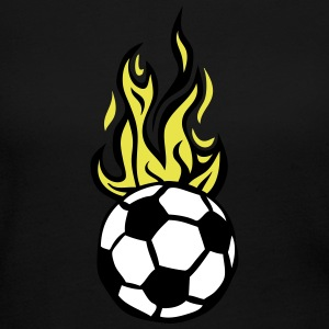 soccer ball flame fire flame cartoon Long Sleeve Shirts - Women's Long Sleeve Jersey T-Shirt