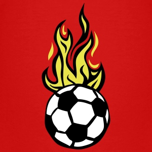 soccer ball flame fire flame cartoon Kids' Shirts - Kids' Premium T-Shirt