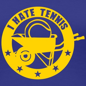 i hate tennis wheelbarrow logo 6 Women's T-Shirts - Women's Premium T-Shirt