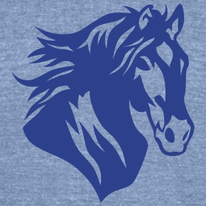 horse head figure in 1306 T-Shirts - Unisex Tri-Blend T-Shirt by American Apparel