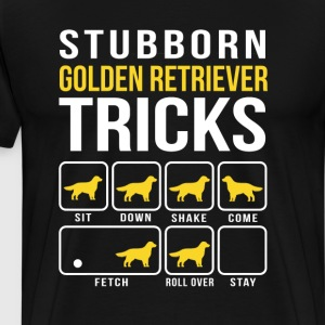Stubborn  Golden Retriever Tricks Funny T-Shirt  - Men's Premium T-Shirt