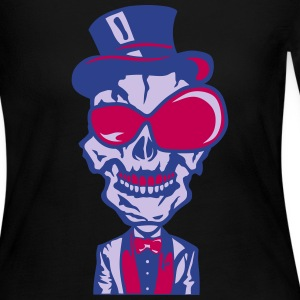 skull hat glasses suit bowtie 1 Long Sleeve Shirts - Women's Long Sleeve Jersey T-Shirt