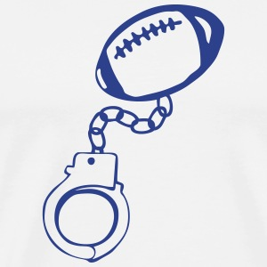 handcuff bracelet rugby football ball T-Shirts - Men's Premium T-Shirt
