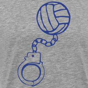 handcuff bracelet volleyball ball T-Shirts - Men's Premium T-Shirt