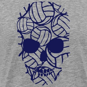 skull volleyball form T-Shirts - Men's Premium T-Shirt
