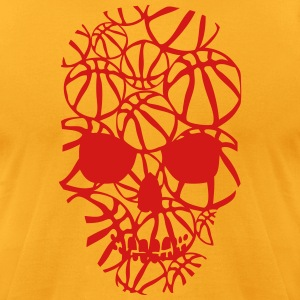basketball skull form ball T-Shirts - Men's T-Shirt by American Apparel