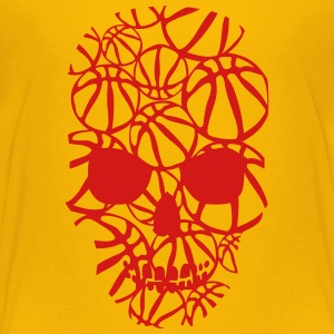basketball skull form ball Kids' Shirts - Kids' Premium T-Shirt