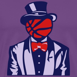 basketball bowler suit bowtie 1 T-Shirts - Men's Premium T-Shirt