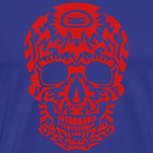 tribal skull dead head death in 1305 T-Shirts - Men's Premium T-Shirt