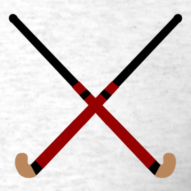 Crossed Field Hockey Sticks