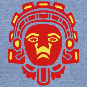 aztec statue mask 3 T-Shirts - Unisex Tri-Blend T-Shirt by American Apparel