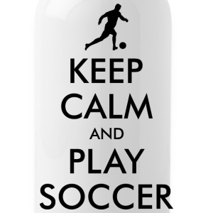 KEEP CALM and PLAY SOCCER Sportswear - Water Bottle