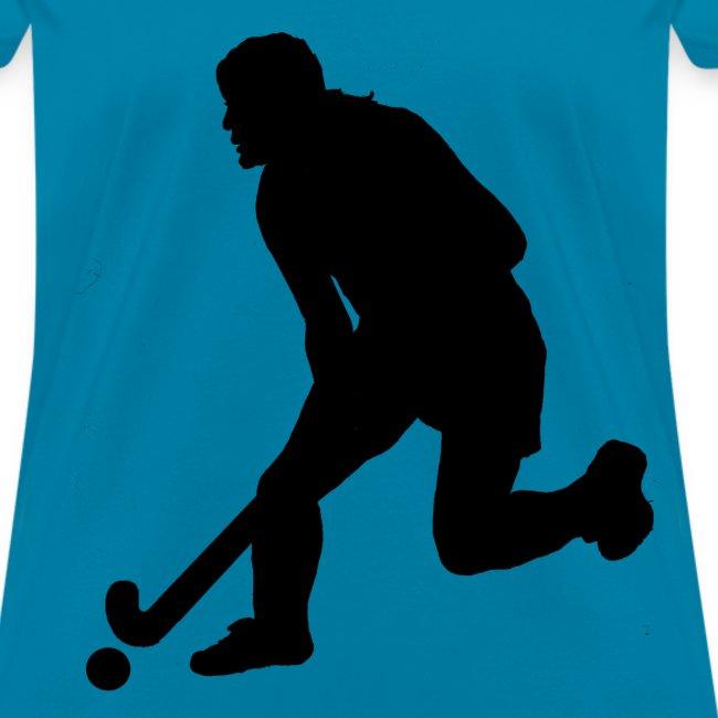Women's Field Hockey Player in Silhouette