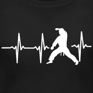 MY HEART BEAT FOR MARTIAL ARTS! Women's T-Shirts - Women's Maternity T-Shirt