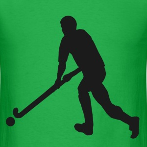 Male Field Hockey Player in Silhouette - Men's T-Shirt