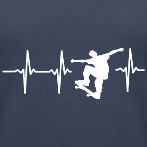 MY HEART BEATS FOR SKATEBOARDING! Tanks - Women's Premium Tank Top