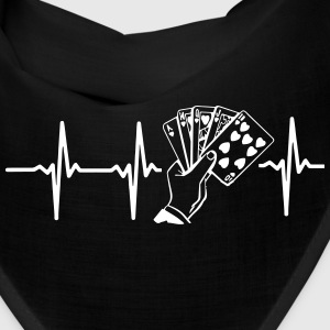 MY HEART BEAT FOR POKER! Caps - Bandana
