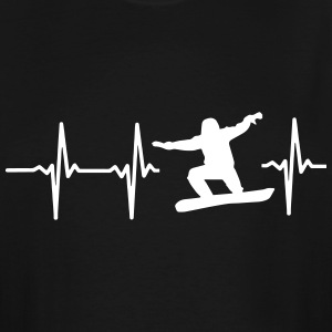 MY HEART BEATS FOR SNOWBOARDING! T-Shirts - Men's Tall T-Shirt