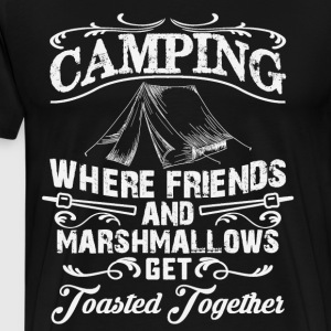 Funny camping t shirt - drinking and camping - Men's Premium T-Shirt