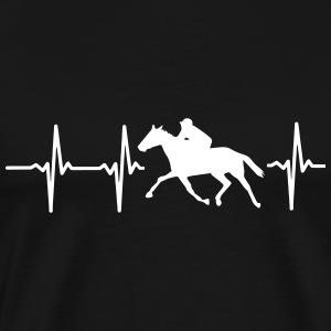 MY HEART BEATS FOR HORSE RACING! T-Shirts - Men's Premium T-Shirt