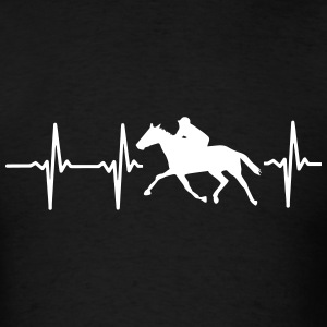 MY HEART BEATS FOR HORSE RACING! T-Shirts - Men's T-Shirt