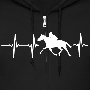 MY HEART BEATS FOR HORSE RACING! Zip Hoodies & Jackets - Men's Zip Hoodie