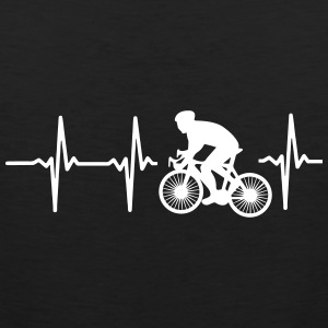 MY HEART BEATS FOR CYCLING! Sportswear - Men's Premium Tank