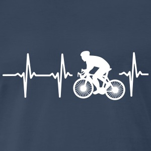 MY HEART BEATS FOR CYCLING! T-Shirts - Men's Premium T-Shirt