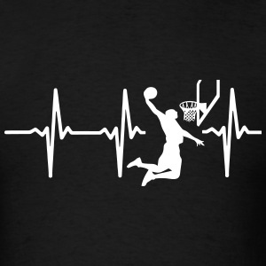 MY HEART BEATS FOR BASKETBALL T-Shirts - Men's T-Shirt