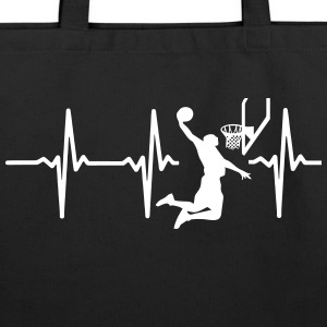 MY HEART BEATS FOR BASKETBALL Bags & backpacks - Eco-Friendly Cotton Tote