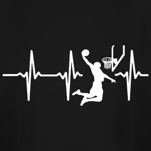 MY HEART BEATS FOR BASKETBALL T-Shirts - Men's Tall T-Shirt