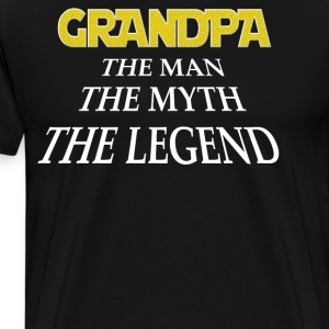 Grandpa the man the myth the legend - Men's Premium T-Shirt