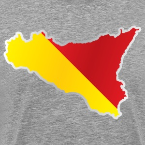 National territory and flag Sicily - Men's Premium T-Shirt