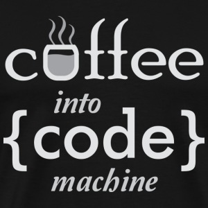 Coffee into Code machine T-Shirts - Men's Premium T-Shirt