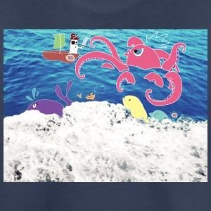 Pirate vs Octopus - Kids' Premium T-Shirt