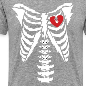 Rib cage with heart design T-Shirts - Men's Premium T-Shirt