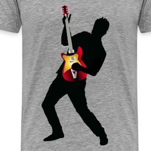 Stylish man with guitar design T-Shirts - Men's Premium T-Shirt