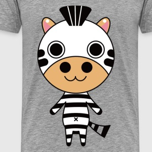 Cartoon standing zebra T-Shirts - Men's Premium T-Shirt