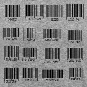 Labels with bar code design T-Shirts - Men's Premium T-Shirt