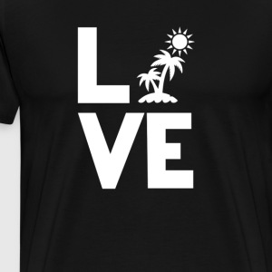 beach hollidays sun Love Funny T-Shirt T-Shirts - Men's Premium T-Shirt