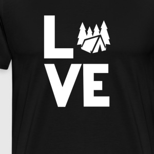 Camping tent forest rving Love Funny T-Shirt  - Men's Premium T-Shirt