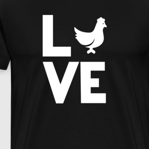 chicken coop eggs Love Funny T-Shirt T-Shirts - Men's Premium T-Shirt