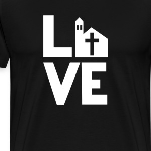 church Love Funny T-Shirt T-Shirts - Men's Premium T-Shirt