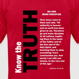 Go Make Disciples T-Shirts - Men's T-Shirt by American Apparel