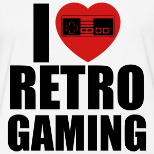 i love retro gaming T-Shirts - Fitted Cotton/Poly T-Shirt by Next Level