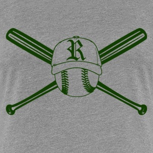 Green bat, ball and hat T-Shirts - Women's Premium T-Shirt