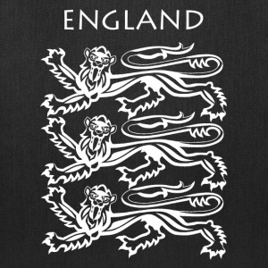 England Coat of Arms White - Tote Bag